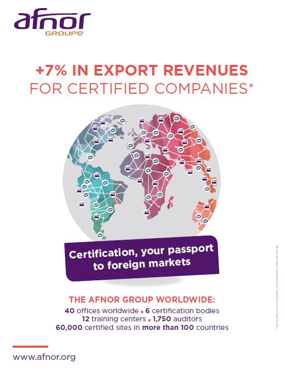 +7% IN EXPORT REVENUES FOR CERTIFIED COMPANIES