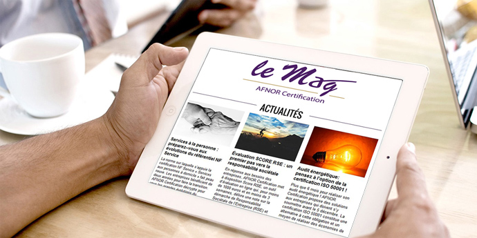 newsletter LE MAG AFNOR