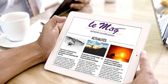 newsletter LE MAG AFNOR