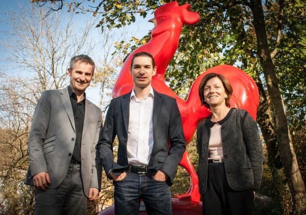 Comité de pilotage RSE Frayssinet:  Emmanuel ROUY, directeur qualité,  Matthieu GREBOT, chef de projet RSE et Martine DUFAILLY, directrice de la communication.