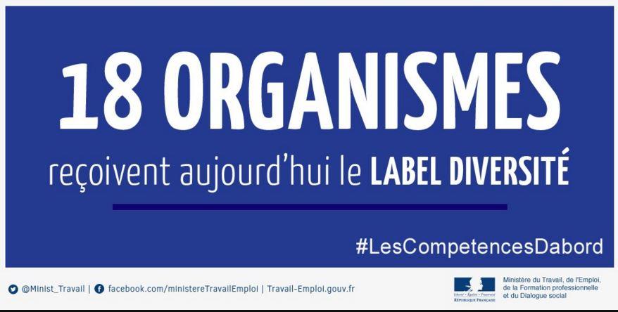 Bannière sur la remise du 18 labels Diversité le 18 avril 2016