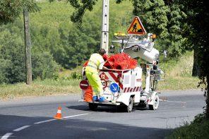 Marquage routier avec NF Service